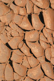 Dry soil. In a hot summer stock image