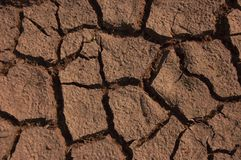 Dry soil. A shot of dry soil on the ground Stock Image
