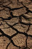 Dry soil. A shot of dry soil on the ground Royalty Free Stock Image