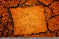Dry soil background stock image