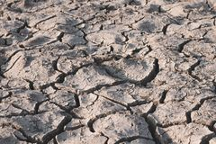 Dry soil caused by drought. royalty free stock images