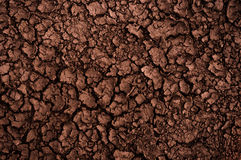 Dry soil closeup before rain Stock Images