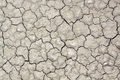 Dry soil  with crack. Close up on dry cracked land Royalty Free Stock Photos