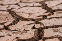 Dry soil and cracked ground stock images