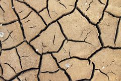 Dry soil cracking Royalty Free Stock Photography