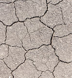 Dry soil cracks Royalty Free Stock Photos