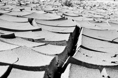 Dry soil in the desert Royalty Free Stock Images