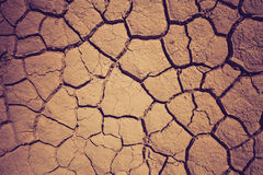Dry soil during the drought Stock Photos