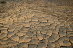 Dry soil - ecology disaster. Dry soil - no water - desert land - ecology problems Royalty Free Stock Photography