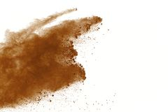 Dry soil explosion isolated on white background. royalty free stock images