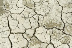 Dry soil at former sea bed of the Aral sea. Royalty Free Stock Photo