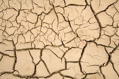 Dry soil - global warming. Dry soil with large cracks - global warming theme background royalty free stock photos