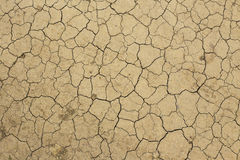 Dry soil. Dry, light brown soil with cracks from dryness Stock Photos