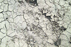 Dry soil after a long period without rain Stock Image