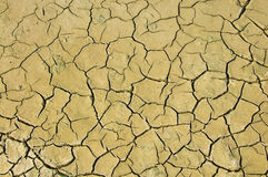 Dry soil and climatic conditions show texture. Stock Photo