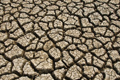 Dry soil and climatic conditions show texture. Stock Photography