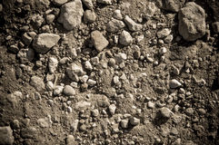 Dry soil and stones Royalty Free Stock Photo