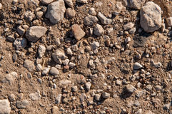 Dry soil and stones Royalty Free Stock Photography