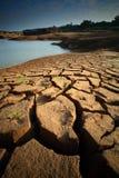 Dry soil. Texture on the ground Stock Photos
