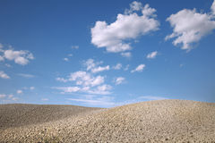 Dry soil Tuscany countryside landscape Stock Photo