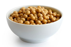 Dry soya beans Stock Photos