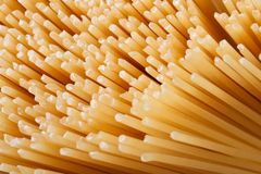 Dry spaghetti closeup texture. background. macro. Royalty Free Stock Photos