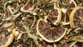 Dry special lemon tea sold in spice market Stock Photos