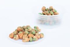 Dry spice peas on white background Stock Photos