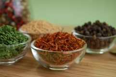 Dry Spices stock images