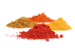 Dry spices. Set (four) of dry spices Royalty Free Stock Photography
