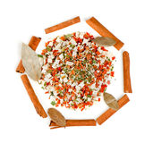Dry spices background Royalty Free Stock Photography