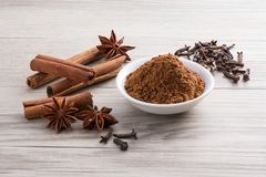 Dry spices Royalty Free Stock Photos