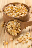 Dry split yellow peas Royalty Free Stock Photos