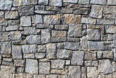 Dry Stack Stone Wall. Close up of a dry stack stone wall texture Stock Image