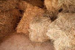 Dry stacks of hay, close-up stock photos