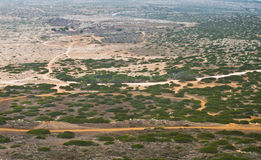 Dry steppe aerial view Stock Photography