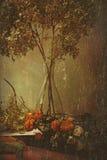 Dry still life with vase Vector Illustration