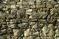 Dry stone. A dry stone wall in Liguria, italy Royalty Free Stock Images