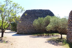 Dry stone hut, French Bories Village, Gordes stock image