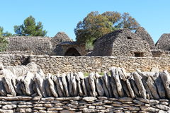 Dry stone huts in French Bories Village, Gordes Royalty Free Stock Image