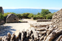 Dry stone sheds, Bories Village, Gordes, France Royalty Free Stock Photo