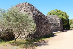 Dry stone sheds in Bories Village, Gordes, France Stock Images