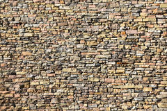 Dry Stone Textured Wall. Stock Photos