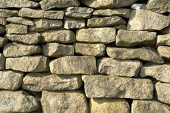 Dry stone wall. Detail Royalty Free Stock Image