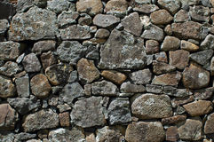 Dry stone wall. Close up of the textural detail of a dry stone wall Stock Image