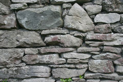 Dry stone wall. Traditional Dry stone wall background in Macro Royalty Free Stock Photo