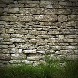 Dry stone wall. Old dry stone wall in rural setting Royalty Free Stock Photo