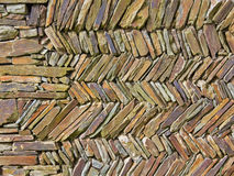 Dry Stone Wall. The colours and texture of a traditional dry stone wall in Devon UK Stock Images