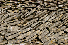 Dry Stone Wall. Close-up of Dry Stone Wall, suitable as background Stock Images