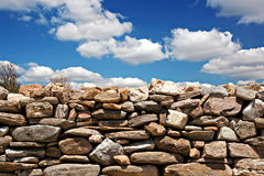Dry stone wall on summers day Stock Photos